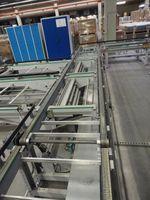 Gurtförderer Transportband / Hubübergabe - Breite 790 mm / Länge 5800 mm