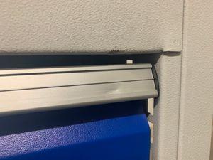PROMAT - Werkbank Arbeitsplatz grau/blau 150x75x86 cm - 1x Schubfächer 1x Tür – Bild 4