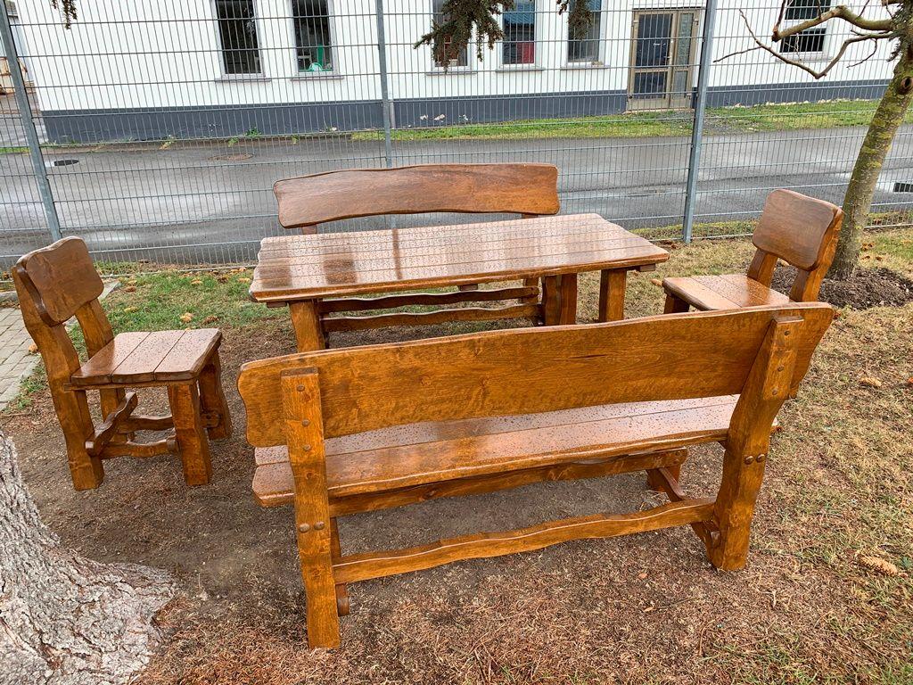 Terrassenmöbel Holz Massiv Sitzgruppe Gartenmöbel Set Holz Für 8