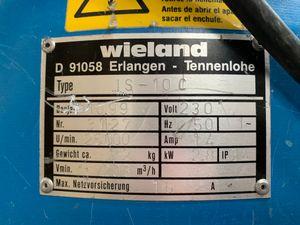 WIELAND IS-10 C Industriesauger Staubsauger Hochleistungssauger 2,8 kW 203 m³/h – Bild 5