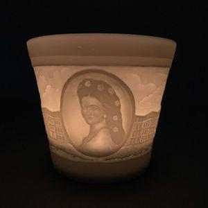 WEIMAR PORZELLAN Windlicht Teelicht Porzellan - Schloß Schönbrunn Kaiserin Sissi – Bild 1