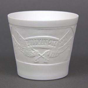 WEIMAR PORZELLAN - Windlicht Teelicht Bisquit-Porzellan - Motiv Pullman City – Bild 2
