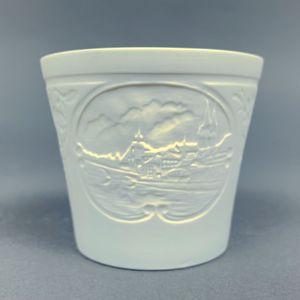 WEIMAR PORZELLAN - Windlicht Teelicht Bisquit-Porzellan - Motiv Regensburg – Bild 4