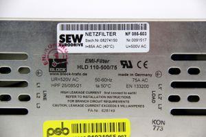 BLOCK - 3Ph PE Netzfilter EMI-Filter HLD110-500/75 520VAC 75A 50/60HZ - 08274150 – Bild 3