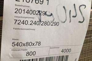 800x Karton Versandkarton Faltkarton Verpackungskarton 1-wellig 540x80x78 mm  – Bild 2