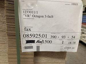 1500x Karton Versandkarton Faltkarton Verpackungskarton 1-wellig 390x93x54 mm – Bild 2