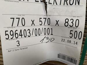 130x Karton Versandkarton Faltkarton Verpackungskarton 2-wellig 770x570x830 mm – Bild 2