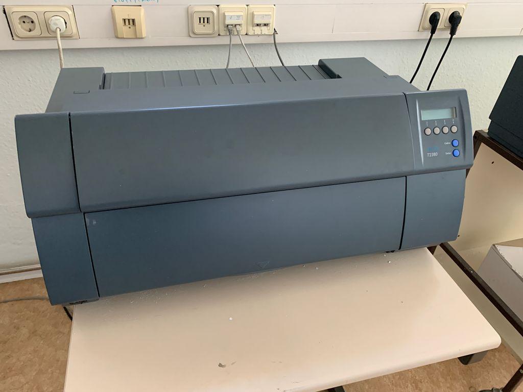 DASCOM Tally T2380 Nadeldrucker monochrom Punktmatrix 360dpi parallel LAN 2017