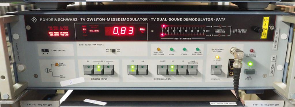 Rohde & Schwarz 392.1018.54 FATF TV Dual-Sound Demodulator