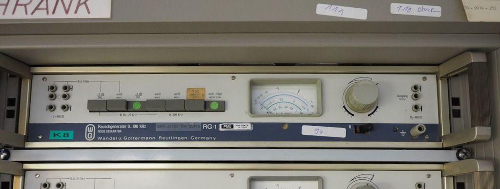 Wandel & Goltermann Rauschgenarator Noise Generator RG-1 0...100 kHz #94