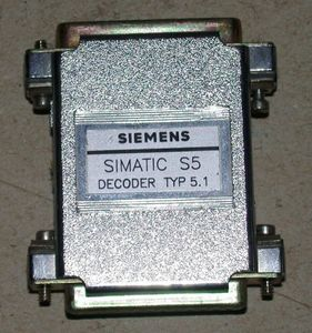 SIEMENS - Simatic S5 Dongle Stecker - Decoder Typ 5.1