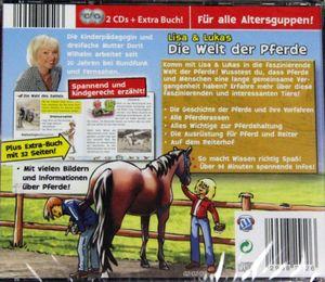 Lisa & Lukas - Die Welt der Pferde - Kinder Erlebnis Hörbuch 2 CD´s + Extra Buch – Bild 2
