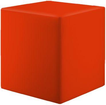 Sitzwürfel Rot Maße: 35 cm x 35 cm x 42 cm – Bild 1
