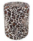 Sitzhocker Fell-Imitat Giraffe Sitzhöhe 44 cm 001