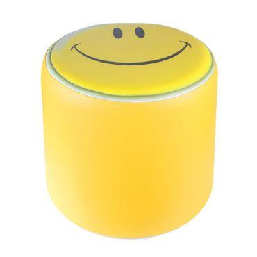 Sitzhocker Smiley Kinderzimmer gelb Modell 2013 Ø34x34cm