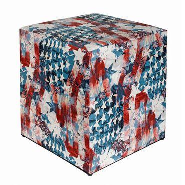 Sitzwürfel bedruckt USA Flagge 35 cm x 35 cm x 42 cm