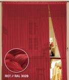 Fadenvorhang 90 cm x 240 cm (BxH) rot 001