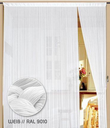 Fadenvorhang 400 cm x 500 cm (BxH) weiß – Bild 1