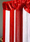 Fadenvorhang Rot-Weiß-Rot 90 cm x 240 cm 002
