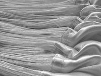 Fadenvorhang 150 cm x 500 cm (BxH) silber 003