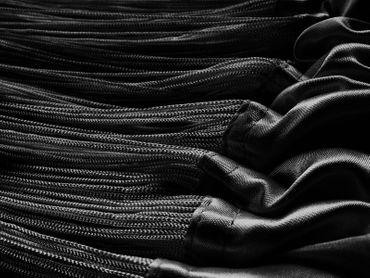 Fadenvorhang 150 cm x 400 cm (BxH) schwarz – Bild 3
