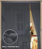 Fadenvorhang 150 cm x 500 cm (BxH) grau 001