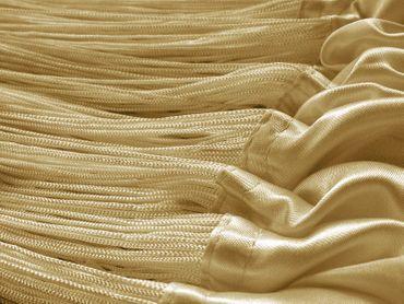Fadenvorhang 150 cm x 300 cm (BxH) currygelb gold – Bild 3