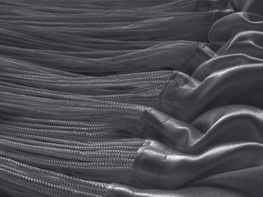Fadenvorhang 150 cm x 300 cm (BxH) grau – Bild 3
