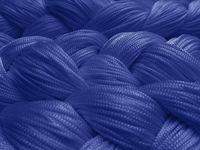 Fadenvorhang 150 cm x 500 cm (BxH) blau 002
