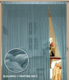 Fadenvorhang 150 cm x 500 cm (BxH) blaugrau 001