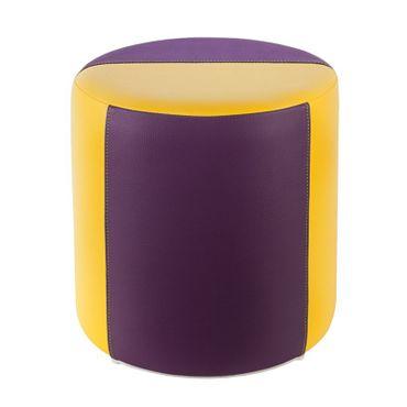 Sitzhocker 2-farbig gelb-lila Ø34 x 34cm
