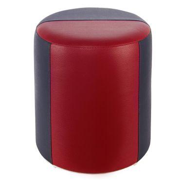 Sitzhocker 2-farbig schwarz-bordeaux Ø34 x 44cm