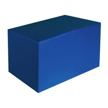 Sitzbank blau Maße: 69 cm x 35 cm x 42 cm