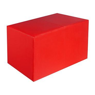 Sitzbank rot Maße: 69 cm x 35 cm x 42 cm