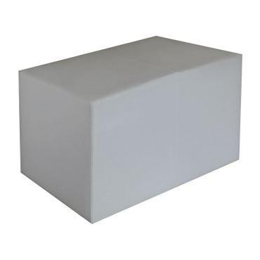Sitzbank hellgrau Maße: 85 cm x 43 cm x 48 cm