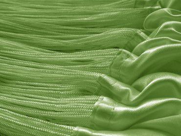 Fadenvorhang 90 cm x 240 cm grün in B1 schwer entflammbar – Bild 3