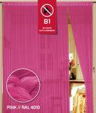 Fadenvorhang 90 cm x 240 cm pink in B1 schwer entflammbar 001