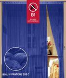 Fadenvorhang 90 cm x 240 cm blau in B1 schwer entflammbar 001