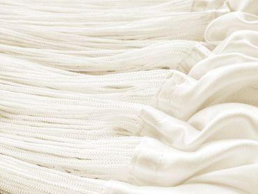 Fadenvorhang 150 cm x 300 cm perlweiß creme in B1 schwer entflammbar – Bild 3