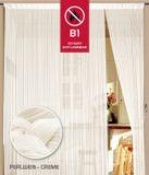 Fadenvorhang 150 cm x 300 cm perlweiß creme in B1 schwer entflammbar 001