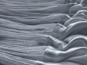 Fadenvorhang 150 cm x 300 cm silber in B1 schwer entflammbar – Bild 3