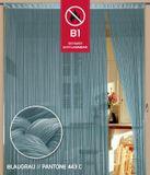 Fadenvorhang 150 cm x 300 cm blaugrau in B1 schwer entflammbar 001