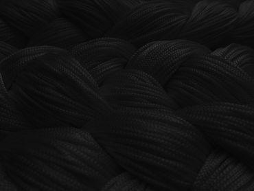 Fadenvorhang 150 cm x 400 cm schwarz in B1 schwer entflammbar – Bild 2