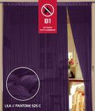 Fadenvorhang 150 cm x 500 cm lila in B1 schwer entflammbar 001