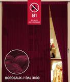 Fadenvorhang 150 cm x 300 cm bordeaux in B1 schwer entflammbar 001