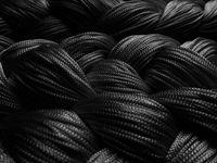 Fadenvorhang 300 cm x 300 cm (BxH) schwarz 002