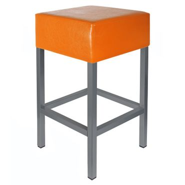 Barhocker Kaikoon orange/ anthrazit Maße: 34 cm x 34 cm x 82 cm