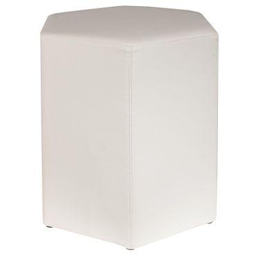 Sitzhocker Kaikoon 6-kant weiß 37x43x46 cm
