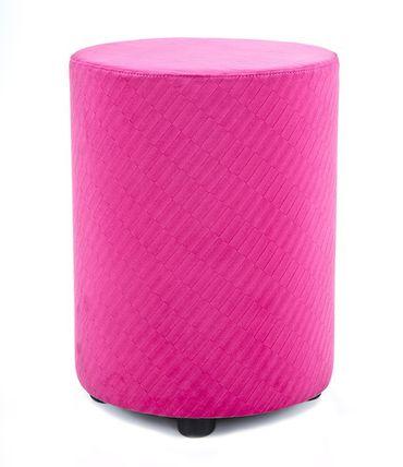 Sitzhocker Kaikoon retro look pink Ø34 x 47cm