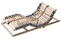 Ergovital Lattenrost ergoflex Motor Systemrahmen von Ergovital  Matratzen // Lattenroste // Betten  topmodern und qualitativ hochwertig Produktinformationen Ergovital ergoflex Motor  Systemrahmen von Ergovital sind speziell für das Matratzensortiment entwickelt und perfekt darauf abgestimmt.  Leistungsmerkmale stabiler Schichtholzrahmen 28 mehrfach geleimte Federholzleisten in bewährter 2-Punktlagerung in Kautschukkappen beweglich gute Körperanpassung durch Mittelband 7-Zonensystem Mittelzonenverstärkung wahlweise mit Notabsenkung und Netzfreischaltung (NAS/ NFS) ergocheck getestet und TÜV geprüft  Technische Daten Höhe: 5 cm erforderliche Bodenfreiheit: 14 cm Breite wahlweise 80, 90, 100, 120, 140 cm Länge wahlweise: 190, 200, 210, 220 cm